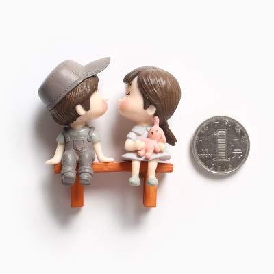 Imán para nevera con diseño de pareja de amor, imán 3D, para nevera, accesorios para decoración del hogar, regalos 3D, imán para nevera (color: ver gráfico)