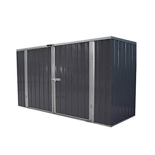 furniture-uk-shop Garden Storage Shed Bike Metal Pent Tool Shed House Galvanized Steel Storage Chest