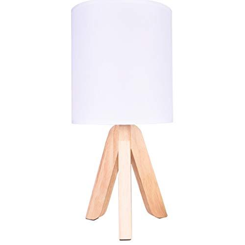 LZL Lámpara de Mesa Tabla lámpara de Cliente Accesorios de Madera Dormitorio luz del Dormitorio Sala de Estar Boda Pasillo Caliente lámpara de cabecera Lámpara de Escritorio (Color : White)
