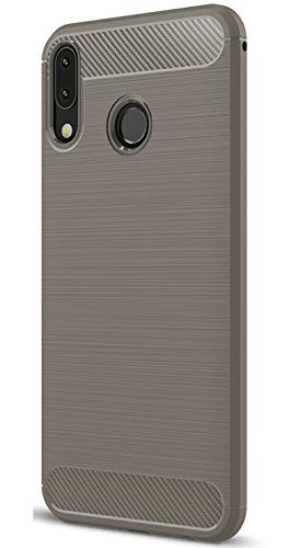XINFENGDI Asus Zenfone 5Z ZS620KL Hülle, Tasche mit Stoßdämpfung Robuste TPU Stylisch Karbon Design Handyhülle Hülle Hülle für Asus Zenfone 5Z ZS620KL - Grau