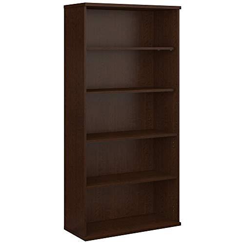 Bush Business Furniture Series C 36W 5 Shelf Bookcase - Mocha Cherry 36W X 15D X 73H Ergonomichome American Made TAA Compliant