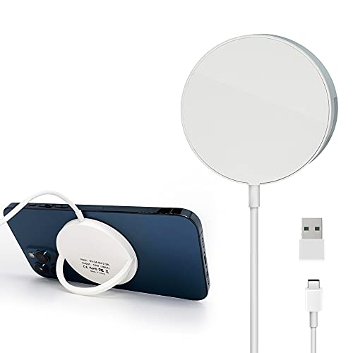 AVOMONT induktive ladestation kabelloses ladegerät iphone charger apple ladestation Compatible with magsafe ladegerät apple wireless charger 15W iphone 13 ladegerät iphone 12,12 Mini,12 Pro,12 Pro Max