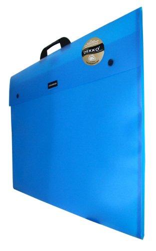 Dekko - Cartella rinforzata, formato A1, colore: Blu