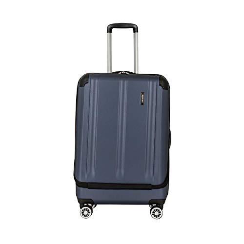 """Travelite Leicht, flexibel, sicher: """"City""""-Hartschalenkoffer für Urlaub und Business (auch mit Vortasche) Koffer, 68 cm, 70 Liter, Marine"""