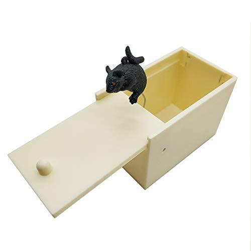 DE Mouse Prank Scare Box,Plastic Surprise Box,Handmade Fun Practical Surprise Joke Boxes