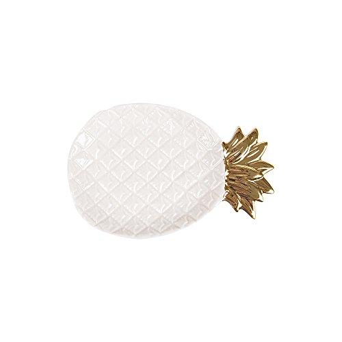 Tong Yue Ceramic Trinket Plate Pineapple Jewelry Tray Dish Organizer