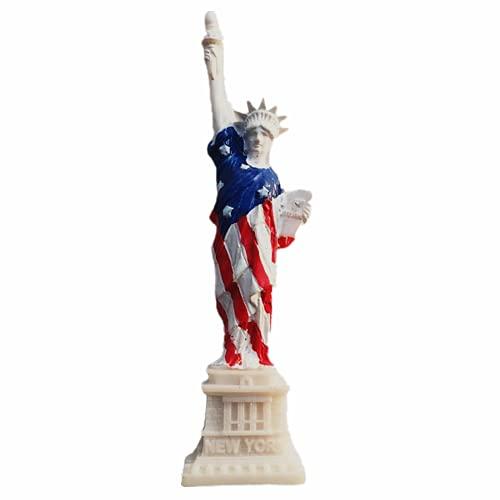 Imán para nevera con diseño de estatua de la libertad, colección de regalos y manualidades