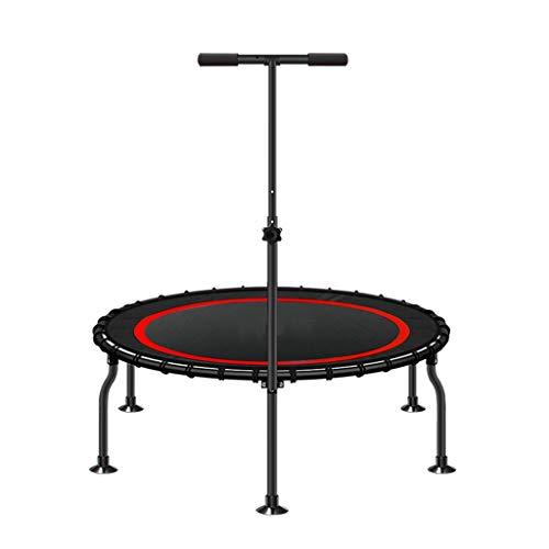 DUOER home-Trampolines d'extérieur Mini-Trampoline de Fitness pour Adulte avec poignée de stabilité en T Ajustable, Pull de Gymnastique Cardio-Training
