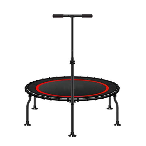 Mini Adult Fitness Exercise Trampoline with Adjustable T-bar Stability Handle,Gymnastics Cardio Workout Jumper