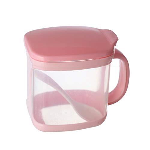 XGQ Plastic Seasoning Box Multi-purpose Combination Seasoning Rack Kitchen Supplies, Style:One Grid (Color : Pink)