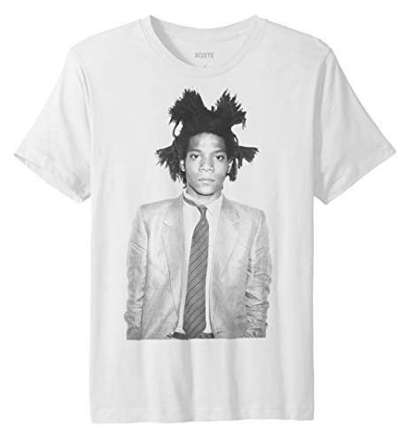 Jean Michel Basquiat Art Fashion Unisex T-Shirt (Medium, White)