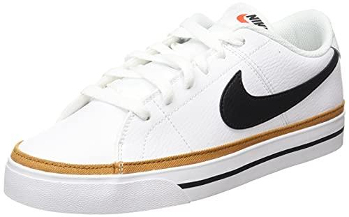 Nike Damen Court Legacy Sneaker, White/Black-Desert Ochre, 40 EU