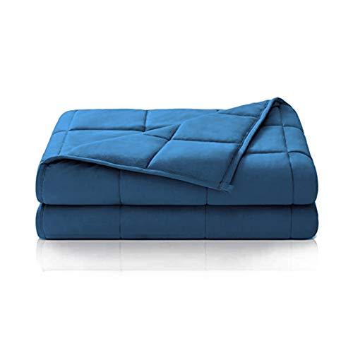 Dailydream Couverture lestée thérapeutique en Coton, 6 kg pour Adulte, 135x200 cm, Bleu
