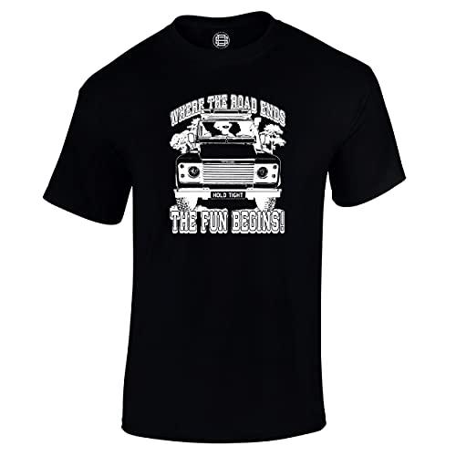 Off-Roading 4X4 Car - Camiseta para hombre, diseño de petróleo con texto en inglés 'Where The...