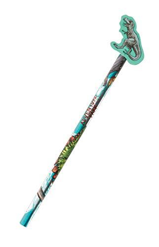 Stylex 44153 - Bleistift mit Radiergummi-Topper im Dinosaurier Design, sortiert, ideal für die Schule oder als Mitgebsel für den Kindergeburtstag