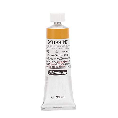 Schmincke Mussini Oils Translucent Yellow Oxide 35ml Tube Series 3