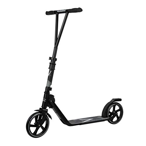 HUDORA BigWheel Generation V 205, schwarz | Leicht Faltbarer Scooter Roller Big Wheel | Tretroller mit extra hoher Laufruhe, 14119/00