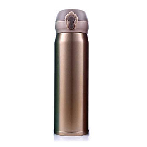 Garrafa de água térmica isolada à vácuo para celular [uma chave para abrir] Garrafa de vácuo de camada dupla de aço inoxidável 500 ml