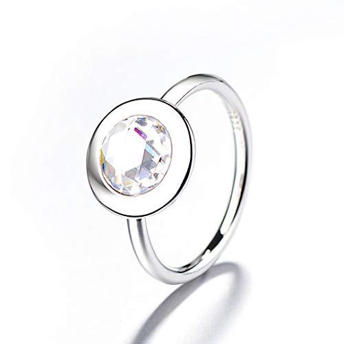 Glz Anillo Diamante Brillante Logos Anillo la Personalidad