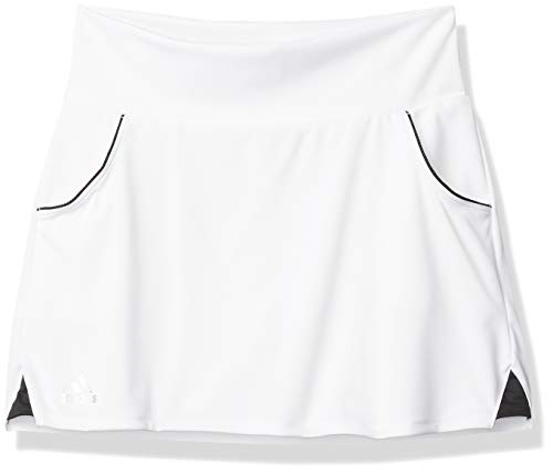 adidas Female Club Skirt, White/Matte Silver/Black,L
