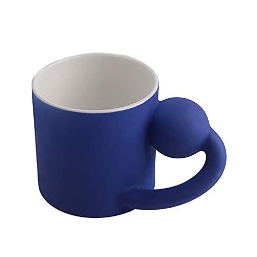 Lllunimon Taza De Cerámica Nórdica Taza De Café Decoración del Hogar Lindo Creativo Combinación Desayuno Taza,Blue Without Tray