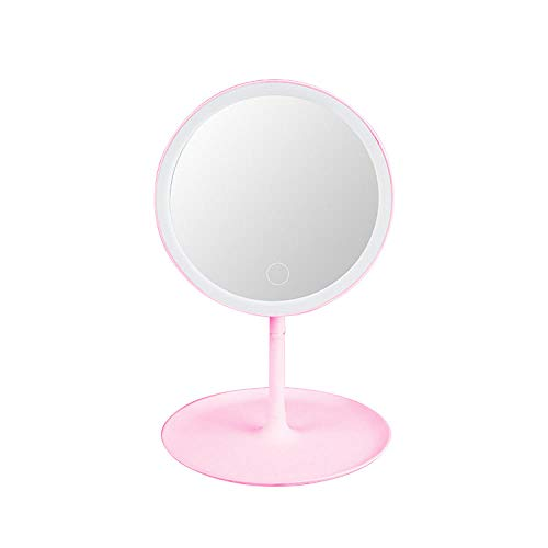 Cynyy Led-Spiegel Kosmetikspiegel Stehender Spiegel Schminkspiegel Kosmetikspiegel Für Waschtische Kosmetikspiegel Mit Lichtern-Rosa USB