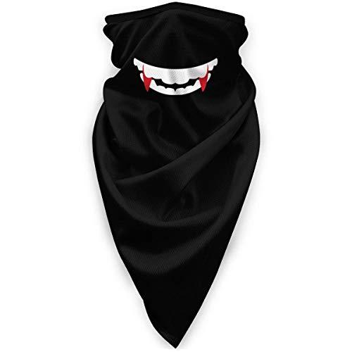 Liuqy Bandeau Banane, Bouche de Vampire avec Crocs d'halloween enveloppe multifonctionnelle Magique Casque de Moto Sport de Plein air Demi-Visage Voile Cou Couverture