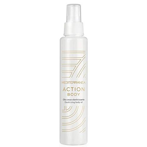 Mediterranea - Action Body - Olio Corpo Elasticizzante e Idratante con Olio di Oliva, Olio di Lentisco e Vitamina E Antiossidante - 150 ml