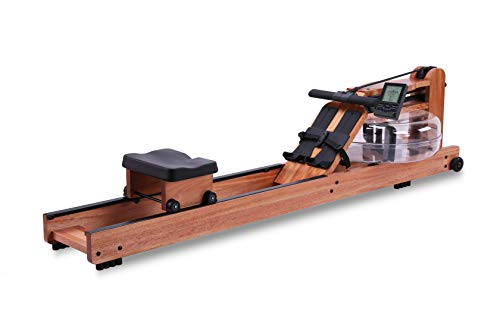 Water Rowing Machine For Home Use Natural Solid Red Walnut Wood Training Water Resistance Rowers Equipment Indoor With Bluetooth Monitor