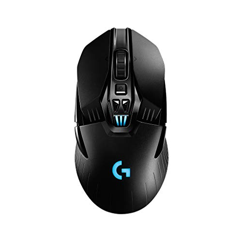 Logitech G903 LIGHTSPEED Wireless Gaming Mouse, 12,000 DPI, RGB, Lightweight, 7 to 11 Programmable Buttons, Long Battery Life, Compatible with PC / Mac - Black