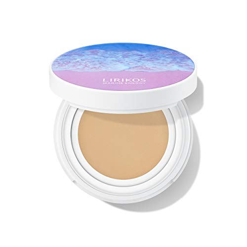 Lirikos Marine Energy Cover Pact Cool and Light Foundation Cushion 10g+10g - #21 Natural Beige