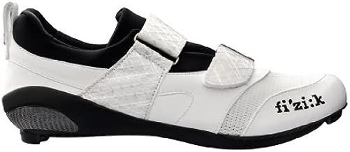 Fizik Men's K1 Uomo Triathlon Cycling Shoes, White, Size 47