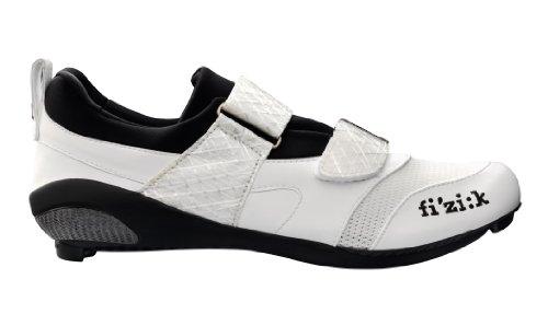 Fizik Hombre K1Uomo triatlón Zapatillas de Ciclismo para Bicicleta, Blanco