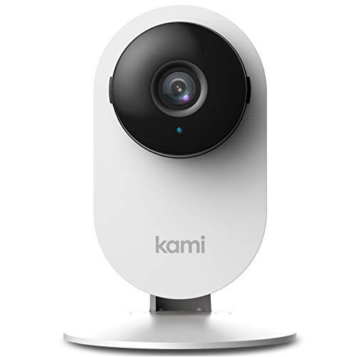 KAMI Caméra WiFi 1080p avec Détection de Visage par YI Technology, Caméra de Surveillance avec Détection de Visage Humain, Vision Nocturne, Intelligence Artificielle, Cloud, Prend en Charge microSD