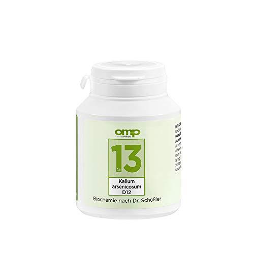 Schüssler Salz Nr. 13 Kalium arsenicosum D12 | 400 Tabletten | Das Salz für Haut, Verdauung und Leber | glutenfrei
