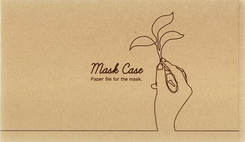 九州紙工 マスクケース クラフト 100枚 携帯用 使い捨て 紙製 飲食店 カフェ 仮置き おしゃれ 日本製 簡易一時保管  (MC-9)