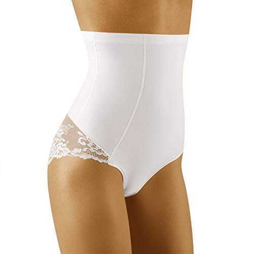Wolbar Damen Slip Hoher Bund Shapewear WB423, Weiß,Large