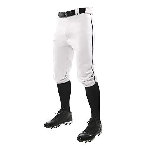 Champro Baseball-Hose mit DREI Kronen und Kontrastfarben, Jungen Herren, Dreifach-Kronen-Höschen aus Polyester mit Zopf, BP101YWNPXS, Weiß, Marineblaue Pfeife, X-Small