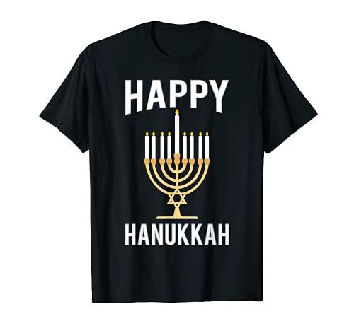 Festive Holiday Menorah Gift Happy Hanukkah T-Shirt T-Shirt