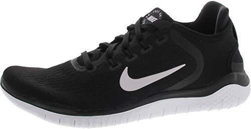 Nike Men's Free RN 2018 Nylon Running Shoes Black/White Size 9