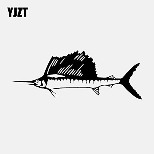 16.9CM*6.3CM Marlin Fish Sea Life Nemo Vinyl Decal Car Sticker Art Black/Silver C24-0592 Silver