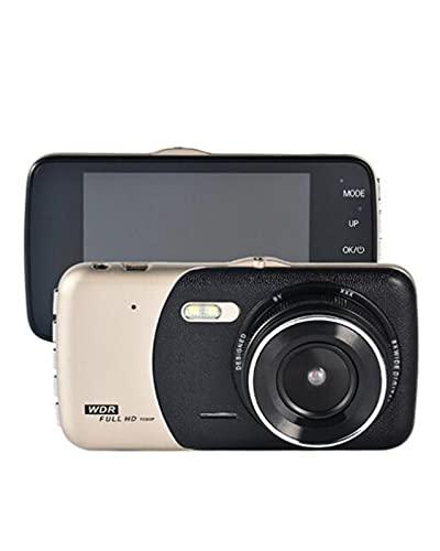ACD Grabador de Video con cámara de Tablero IPS de Doble Lente FHD 1080P de 4'con cámara de visión Trasera con visión Nocturna LED para automóvil(Color:a,Size:16G)