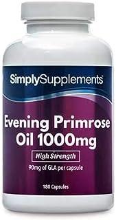Aceite de Onagra 1000mg - 360 cápsulas - Hasta 1 año de suministro - Para la