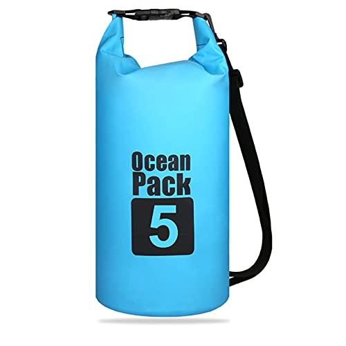 iZhuoKe Borsa Impermeabile,Borsa Impermeabile a Tracolla Regolabile 5L,Sacche Impermeabili Dry Bag,per Kayak,Canottaggio,Pesca,Rafting,Nuoto,Camping