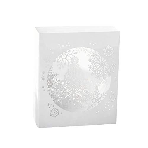 WINOMO 3D Weihnachtskarten Verpackt Grußkarten Schneeflocke Papier Segen Karten Pop-Up-Karte Party Liefert für Weihnachten Party Festival