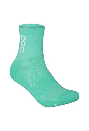 POC Essential Road Lt Sock Calcetines, verde fluorescente, M Unisex Adulto