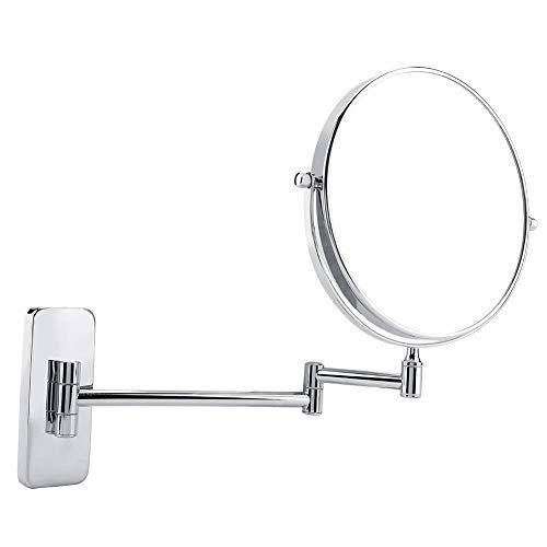 Kosmetikspiegel, LED Wand Schminkspiegel, Vergrößerungs-Doppelseiten-Schminkspiegel, um 360 Grad drehbarer wandmontierter Kosmetikspiegel mit Halterung
