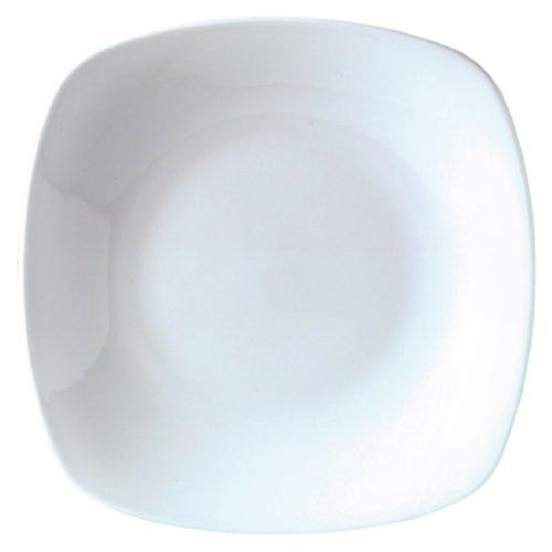 Steelite V9400 Quadro Assiette carrée, Blanc (lot de 12)