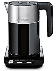 Bosch TWK8613P Styline Waterkoker, 2400 W, Temperatuurkeuze, Automatische Uitschakeling, Warmhoudfunctie, Oververhittingsbeveiliging, Inhoud 1,5 Liter, Zwart