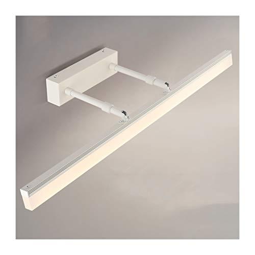 WYZ. Spiegel voorlamp LED WC kaptafel licht badkamerspiegel Nordic WC modern eenvoudige spiegel kast licht dressing [energieklasse A +] (kleur: wit licht)